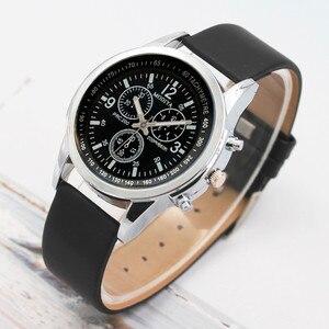 Luxury Fashion Mens Watch Leather Band Quartz Wrist Business Watch Simple And Stylish Dress Wristwatch Relogio Masculino