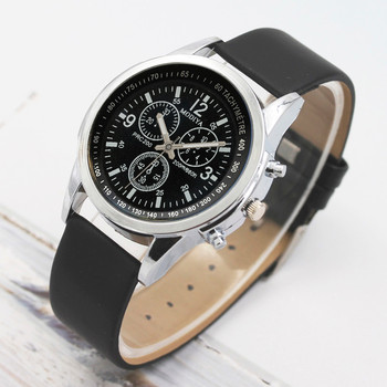 Luxury Fashion Mens Watch Leather Band Quartz Wrist Business Watch Simple And Stylish Dress Wristwat