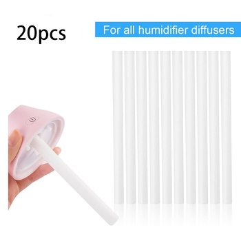 20Pcs Humidifier Filters Replacement Cotton Sponge Stick for USB Humidifier Aroma Diffusers Mist Maker Air Humidifier 10pcs replacement filters usb humidifier cotton sliver stick cup air humidifier replacement filters high quality