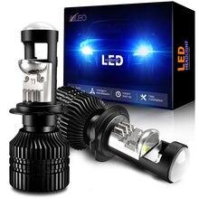Aileo Mini H7 Led Lamp Projector Lens Automobles Koplamp Lamp 70 W/pair 16000LM 12V Rhd Lhd