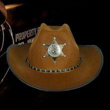 В ковбойском стиле Дикого Запада шапка шерифа нарядное платье