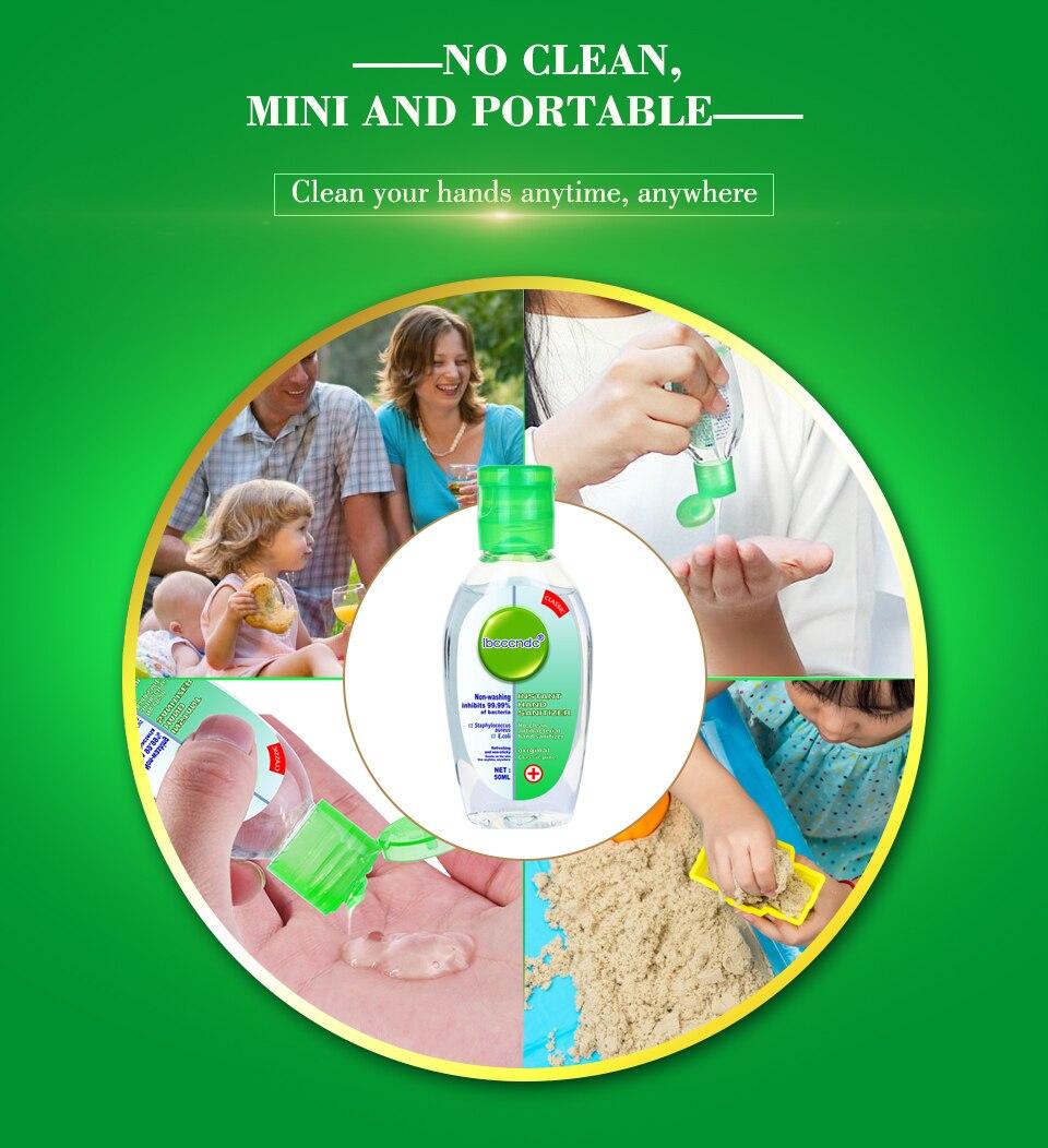 H8f689e3bba4b49f79edacc96e808c194j 50ml Travel Portable Hand Sanitizer Gel Anti-Bacteria Moisturizing Liquid Disposable No Clean Waterless Antibacterial Hand Gel