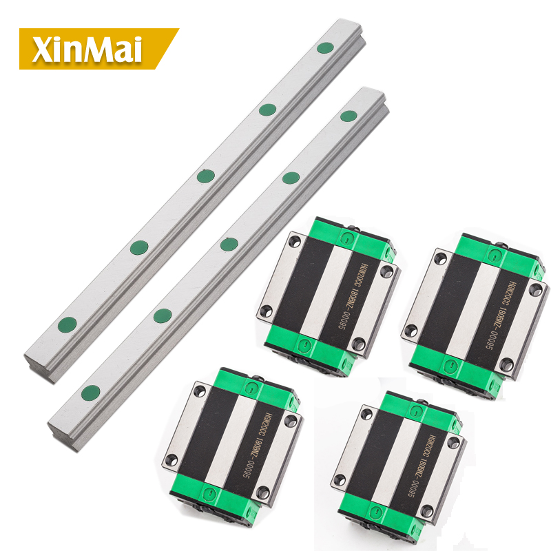 1500 1600 1850 2000 HGR20  *2 Square Linear Guide Rail  +4pc Slide Block Carriages HGH20CA/HGW20CC CNC Router Engraving