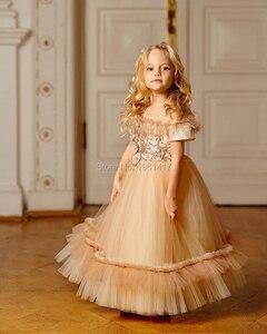 Одежда для маленьких девочек 12 месяцев торжественное вечернее платье на день рождения для девочек 2 лет, платье на крестины для маленьких де...