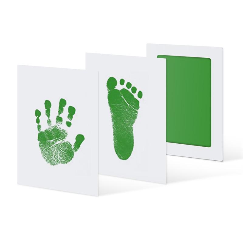 Оптовая продажа, для новорожденных, с отпечатком руки, с чернилами, чистый, сенсорный коврик, для ног, нетоксичный, для работы, фото, легкая
