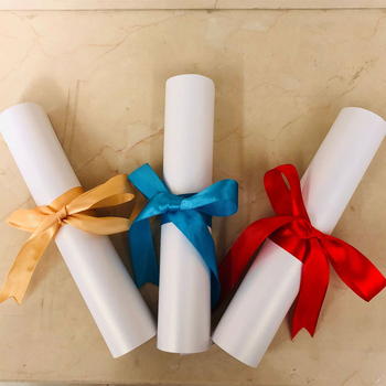 цена на 10PCS Honor Certificate letter storage ribbon Swallowtail bow ribbon Graduation Red Blue Simple Fashion Chinese style Cable Tie