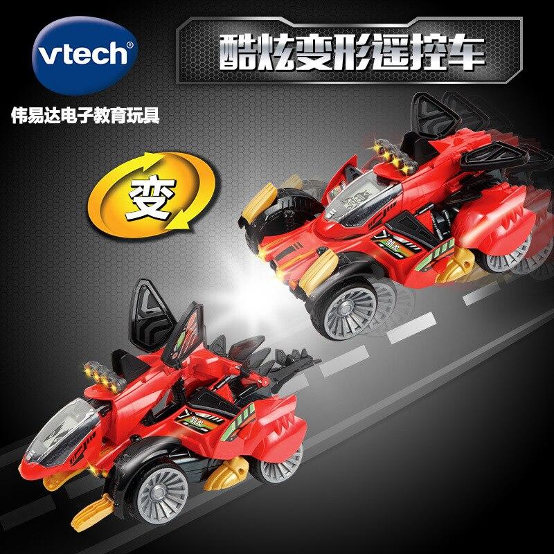Vtech Transformation Dinosaur Guardian Series Children Sound And Light Electric Remote Control Stegosaurus Race Car Boy Toy