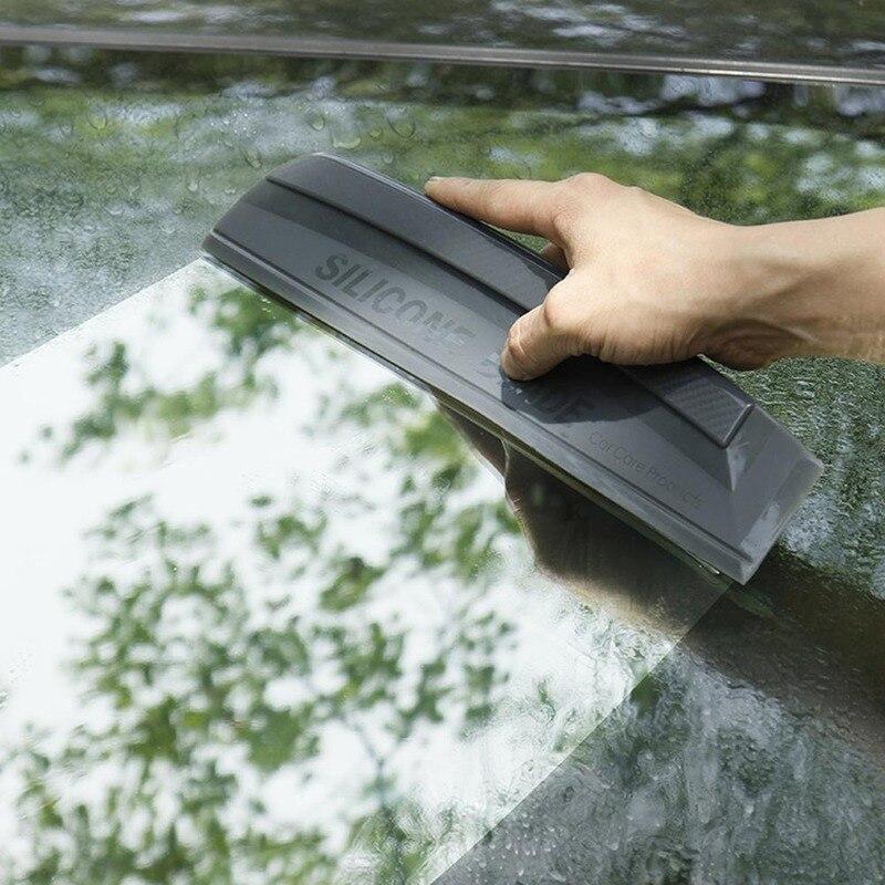 Não zero flexível macio silicone acessível rodo de borracha carro envoltório ferramentas janela de água limpador lâmina de secagem limpa raspagem filme raspador Raspador    -