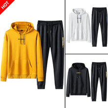 Tracksuit Men Sweat Jacket+Pants Casual Hoodie Sets Sweatshirt Suit Men Ropa Para Hombre Jogger Suits 2 Piece Winter Pant Suit(China)