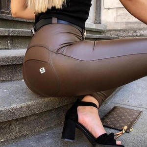 Pants Leggings Compression Brown Melody Skinny Womens Shapewear Full-Length