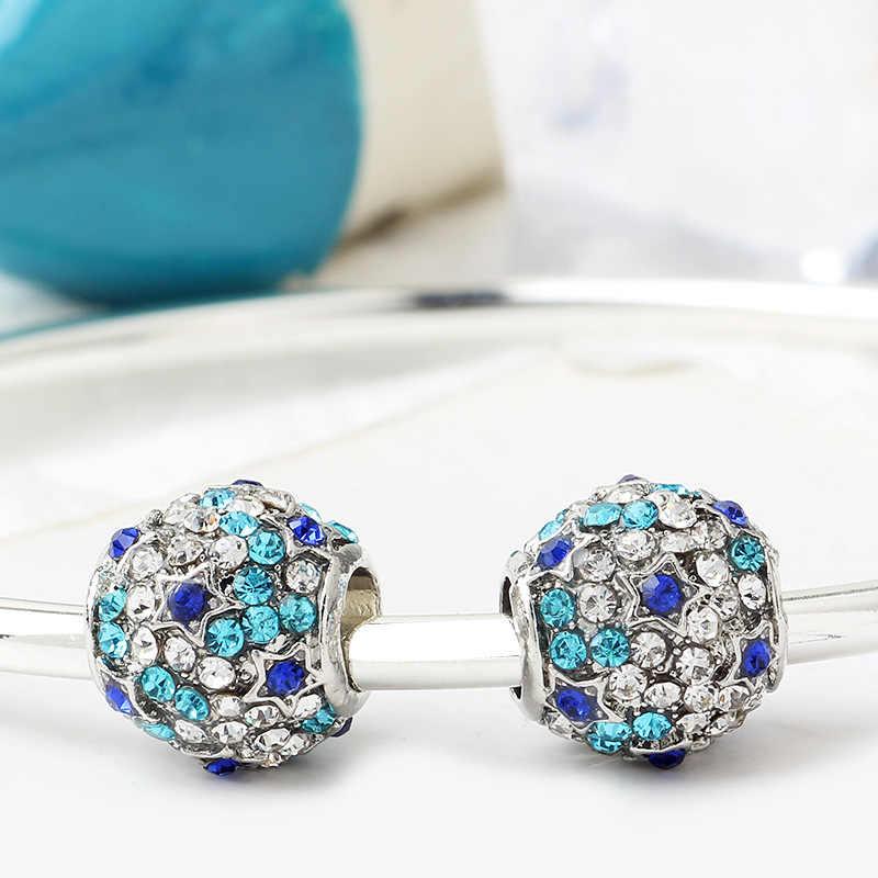 Novedad 2020, 4 unidades por lote, corona de mariposa koala de caballo azul, Cuenta de joyería diy con abalorio compatible con Pandora X055