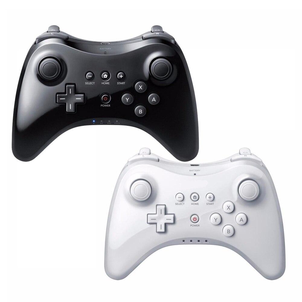 Para nintend para wii u pro controlador usb clássico duplo analógico bluetooth controle remoto sem fio para wiiu pro u gamepad