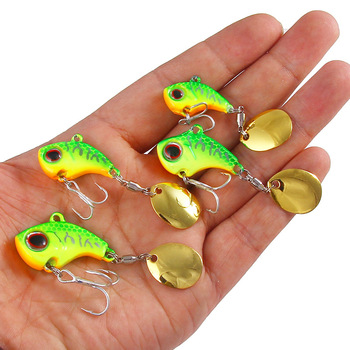 Metal Mini VIB With Spoon Fishing Lure 9/13/16/22G Fish Hooks Tackle Pin Crankbait Vibration Spinner Sinking Bait