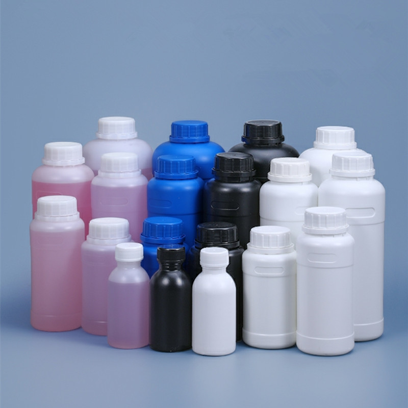 Round Plastic bottle with Lid Empty storage container for Disinfection Alcohol Food Grade HDPE material 1PCS