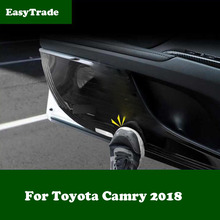 цена на 4PCS Car Interior Door Anti-dirty Pad Anti-Kick Pad Door Protection Cover Trim For Toyota Camry 2018 Accessories Car styling