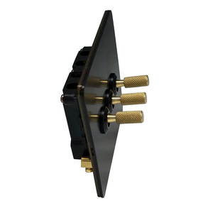 Image 2 - LIWBET Black Color 3 Gang 2 Way Wall Switch And AC220~250V Stainless Steel Panel Light Switch With Gold Color Toggle