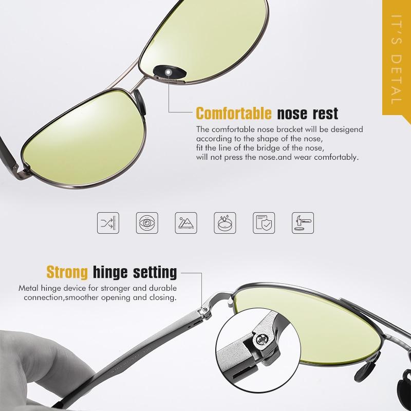 2020 Aviation Driving Photochromic Sunglasses Men Polarized Glasses Women Day Night Vision Driver Eyewear UV400 zonnebril heren 4