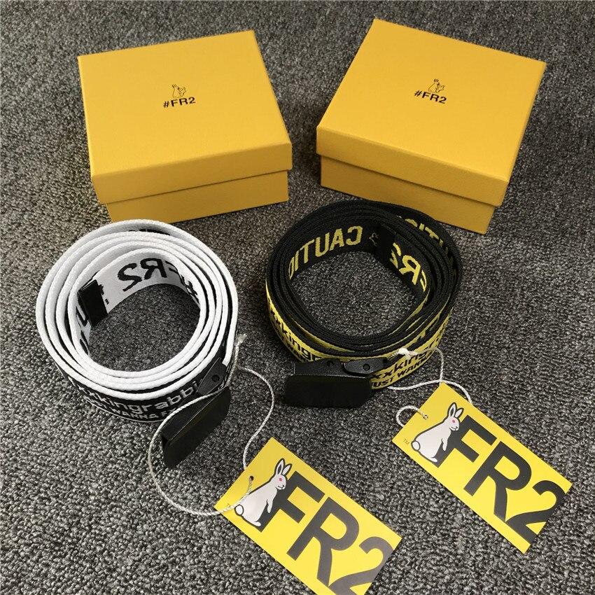 FR2 Belt 2020 Men Women Hip Hop Caution Fxxxking Rabbits FR2 Belts Good Quality Japan Style Waistband