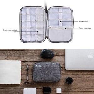 Image 4 - ケーブルオーガナイザーバッグ、旅行エレクトロニクスアクセサリーバッグ主催のためのケーブル、フラッシュディスク、 usb ドライブ、充電器、電源銀行、