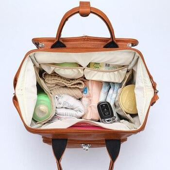 Neue Große PU Leder Windel Tasche Rucksack Frauen Kinderwagen Organizer Taschen Reise Baby Windel Taschen Für Mama Papa Mochila Feminina
