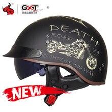 GXT DOT Certification Retro Motorcycle Helmet Moto Helmet Sc