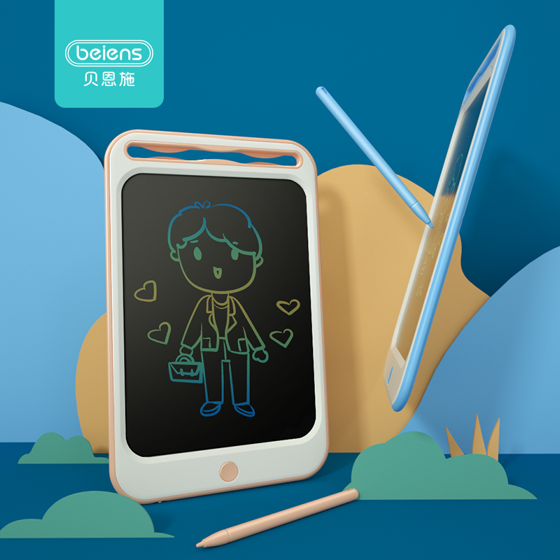 Beiens Drawing Toys For Kids LCD Drawing Board Children Drawing Tablet Scratch Painting Toy With Anti-erase Lock Birthday Gifts