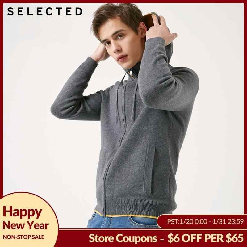 SELECTED Men's Hooded Pullover Hoodies Autumn Knit Sweatshirt Clothes S | 419124544