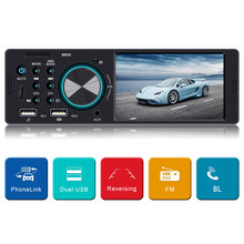 BT 1 DIN 4.1Inch Car Stereo Radio AUX MP5 Player Phone Mirror Link+Free Camera FM Dual USB RCA Digital Media Receiver(China)