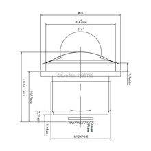 PUAimetis HD 360 balıkgözü cctv lens 1.5MM M12 video gözetim kamera 1/3/1/2.7 180 geniş açı cctv lensler