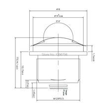 PU`Aimetis HD 360 fisheye cctv lens 1.5MM M12 video surveillance camera 1/3/1/2.7 180 wide angle cctv lenses