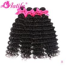 Onda profunda malaia feixes de cabelo 1/3 ou 4 feixes de cabelo humano remy tecer cabelo 10-28 Polegada extensão do cabelo cor natural aatifa cabelo