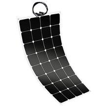 100 Вт 12 В Гибкая солнечная энергия солнечная панель зарядное устройство для автомобиля RV Морской лодки