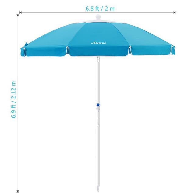 MOVTOTOP 1PC Flower Design Beach Umbrella UV Protection with Aluminum Pole Portable Wind Beach Umbrella Adjustable Sand Umbrella 5
