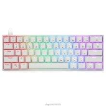 Optical-Switches Mechanical-Keyboard Gateron Backlit SK61 Hot Swap Portable D15 20-Dropship