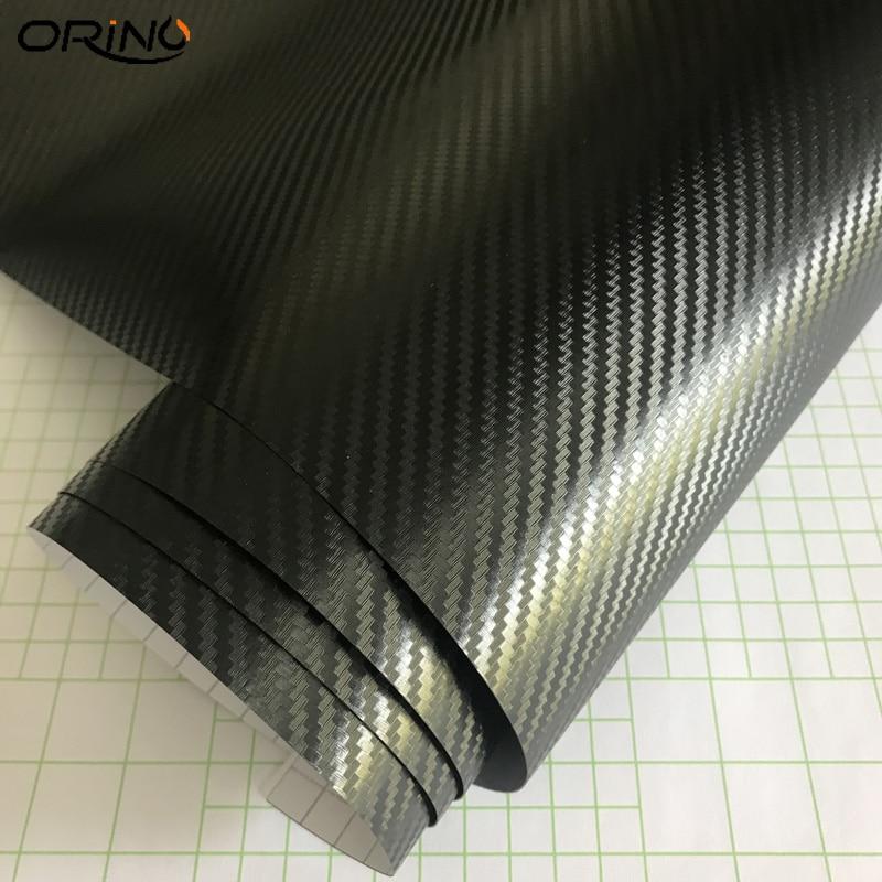 Black 3D Carbon Fiber Vinyl Wrap Sticker-3