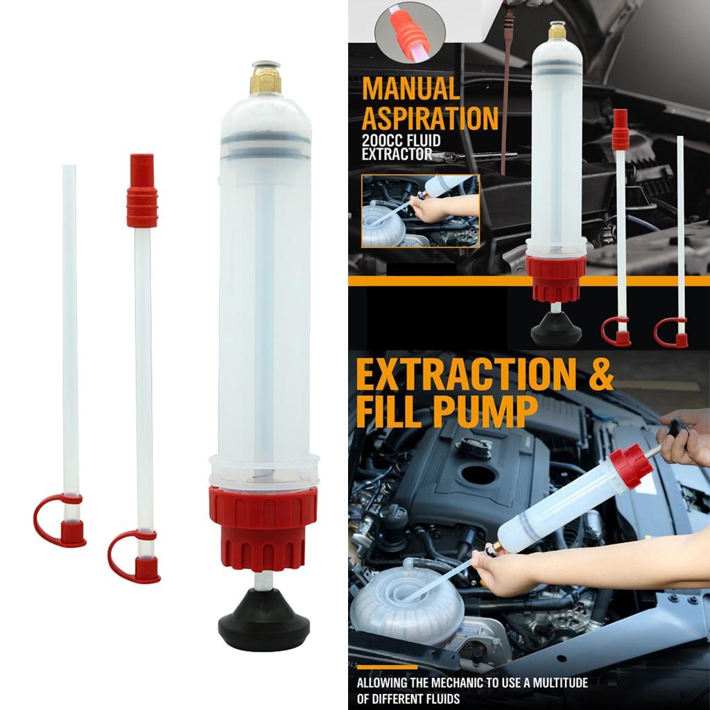 Oil Fluid Extractor Universal Filling Syringe Bottle Transfer Pump Automotive Fuel Extraction Pump 200ml