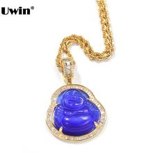 UWIN Buddha Pendant Necklaces For Women Gold Silver Color Colored Gem Necklace Fashion Jewelry New Style  Drop Shipping