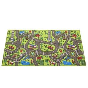 Image 2 - ילדי כביש תנועה משחק מחצלת שמיכת עיר ירוק כביש ילד לשחק מחצלת שטיח עבור תינוק זחילה שמיכת רצפת שטיח שטיח מחצלת