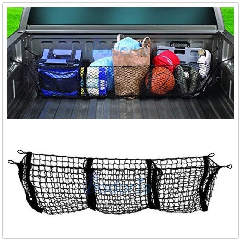 Для хранения багажа в багажник автомобиля Органайзер для груза, нейлоновая растягивающаяся эластичная сетка для Toyota Tundra Tacoma Hilux Revo Vigo, аксес...