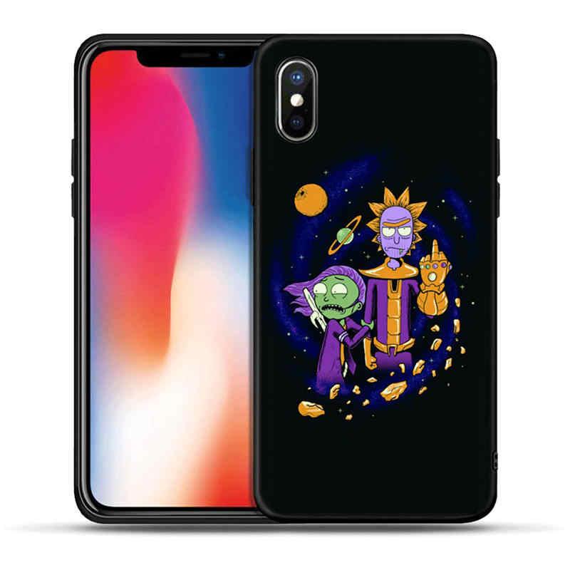 Anime Rick e Morty Dos Desenhos Animados Anime Caso de Telefone Para o iphone 5S SE 6 6s 7 8 plus TPU Macio caso Capa de Silicone Para o iphone X XR XS MAX