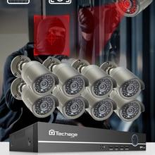 Surveillance-Set Nvr-Kit Audio-Record Ip-Camera Cctv-Security-System POE Techage Outdoor