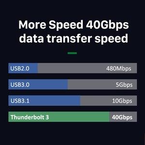 Image 5 - CABLETIME Thunderbolt 3 kabel USB typu C certyfikat PD 100W kabel 40 gb/s 5A/20V Super ładowania dla Dell XPS Razer Macbook Air N320