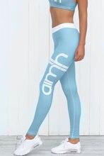 Тонкие женские леггинсы с высокой талией эластичные для фитнеса