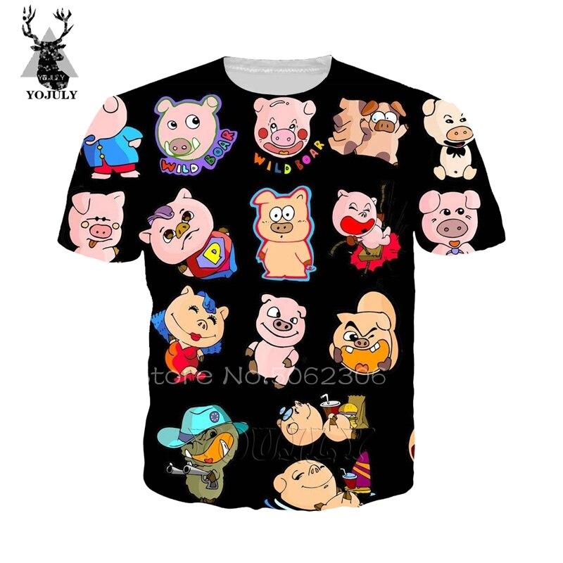 pig tshirt stranger things t shirt new arrival T-shirt 3D harajuku sweatshirt lil peep shirt streetwear hip hop O-neck top A219