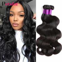 Perstar Body Wave Bundles 100% Human Hair Weave Bundles Brazilian Body Wave 1/3/4 PCS Natural Woman Hair Extensions 8-28 Inch