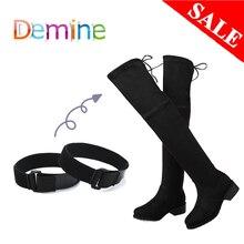 Женские шнурки для ботинок, эластичные шнурки для ботинок, фиксирующие свободные шнурки, регулируемый скотч, аксессуары для обуви