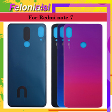 10pcs/lot For Xiaomi Redmi note 7 Battery Cover Back Glass Panel Rear Door Housing Case For Redmi note 7 pro Back battery Cover for xiaomi redmi note 6 pro case 360 degree full body cover case for xiaomi redmi note 6 pro hybrid shockproof case glass film