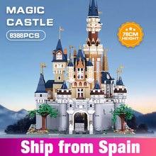 8384 pçs menina amigos moc cinderela princesa castelo cidade modelo blocos de construção tijolos diy crianças brinquedos aniversário presentes natal