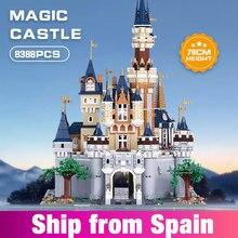 8384 stücke Mädchen Freunde MOC Cinderella Prinzessin Burg Stadt Modell Bausteine Ziegel DIY Kinder Spielzeug Geburtstag Weihnachten Geschenke