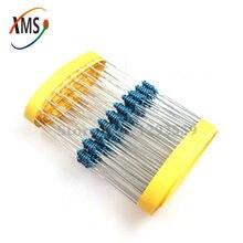 100 pces 220 ohm 220r 1/4w resistor de filme de metal 1%